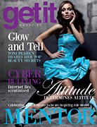 Cover of the april issue of Getit Magazine