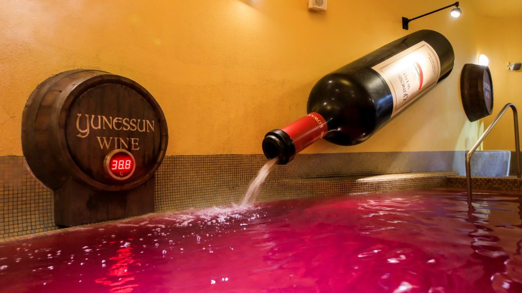 Yunessan wine bath Japan