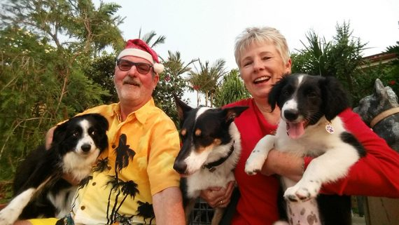 Sally's family - Champ (age 8), Gunther, Pepper (age 5), Sally & Jazz (3 months)